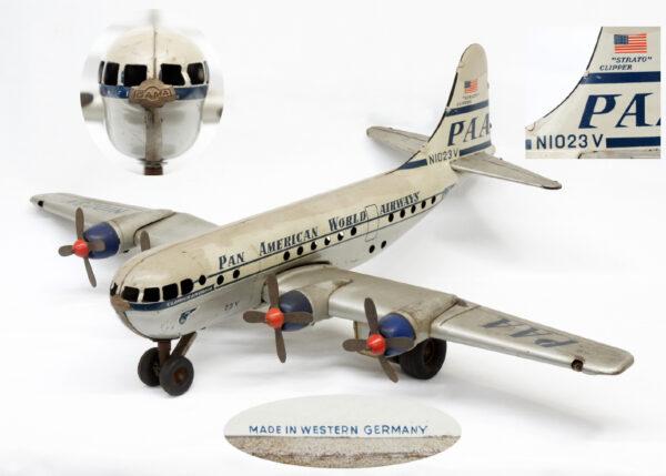 パンナム ストラトクリッパー 23V 飛行機 ブリキのおもちゃ