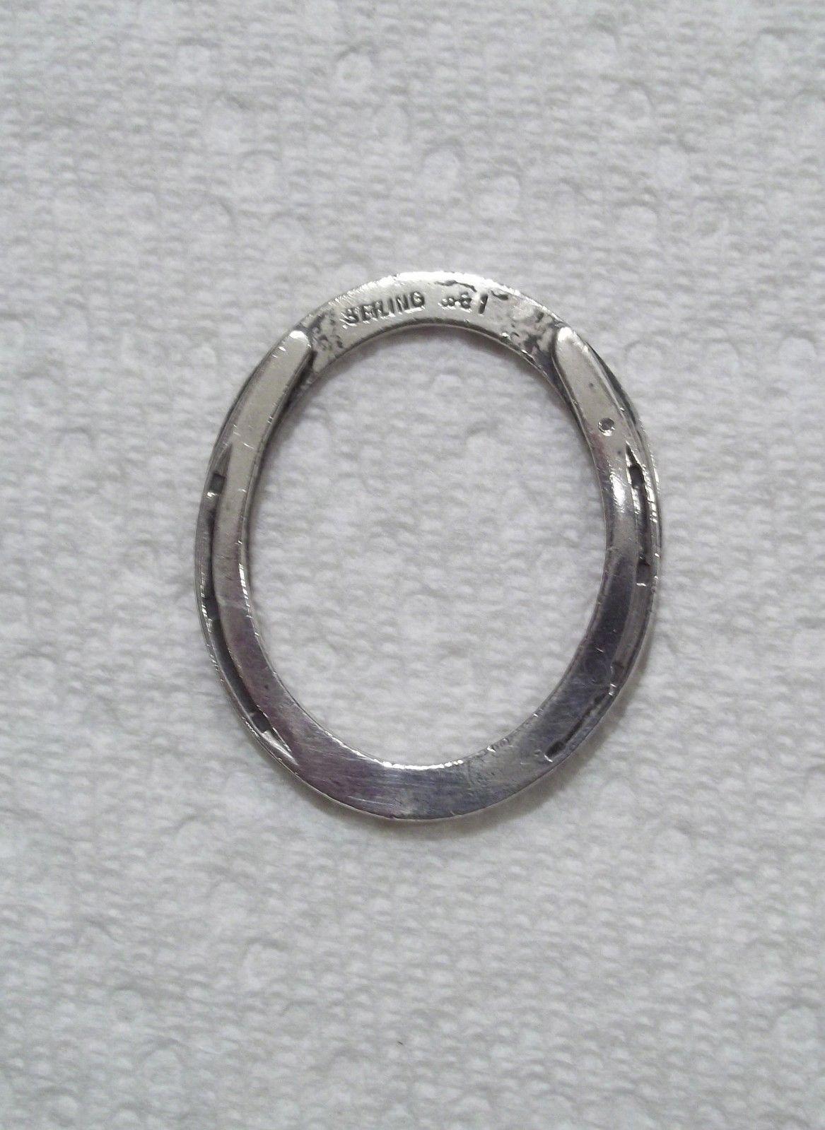 Vintage Antique Sterling Silver Horseshoe Key Ring A.J