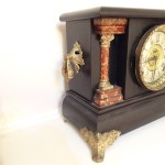 ANTIQUE CARVED WOOD E. Ingraham Clock (4)