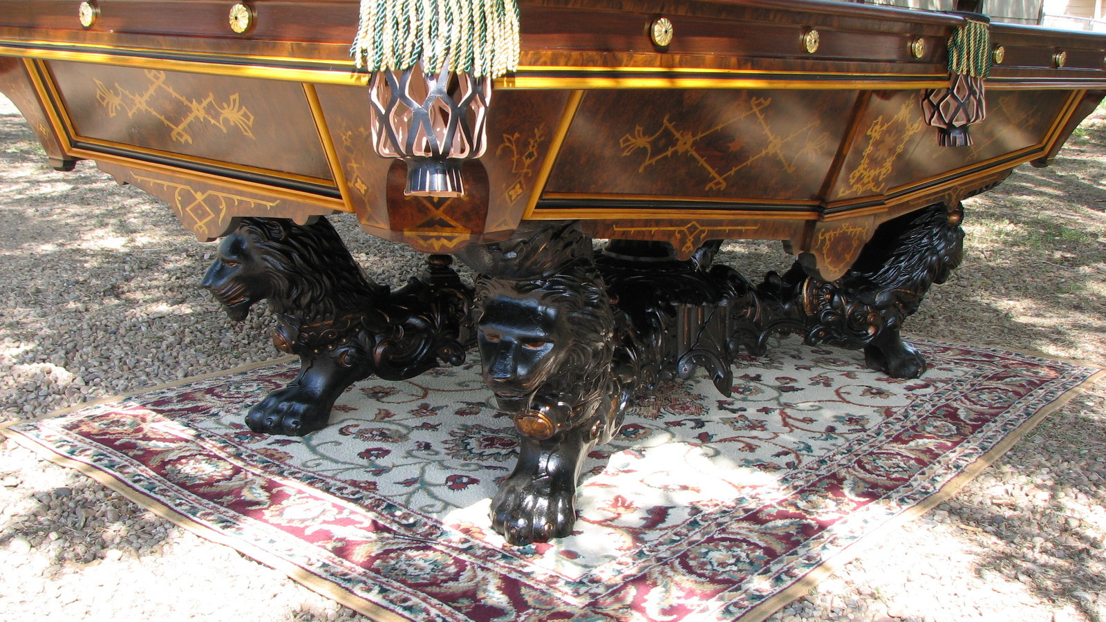 ANTIQUE BRUNSWICK VICTORIAN POOL TABLE Antiques Of America And - Brunswick monarch pool table for sale