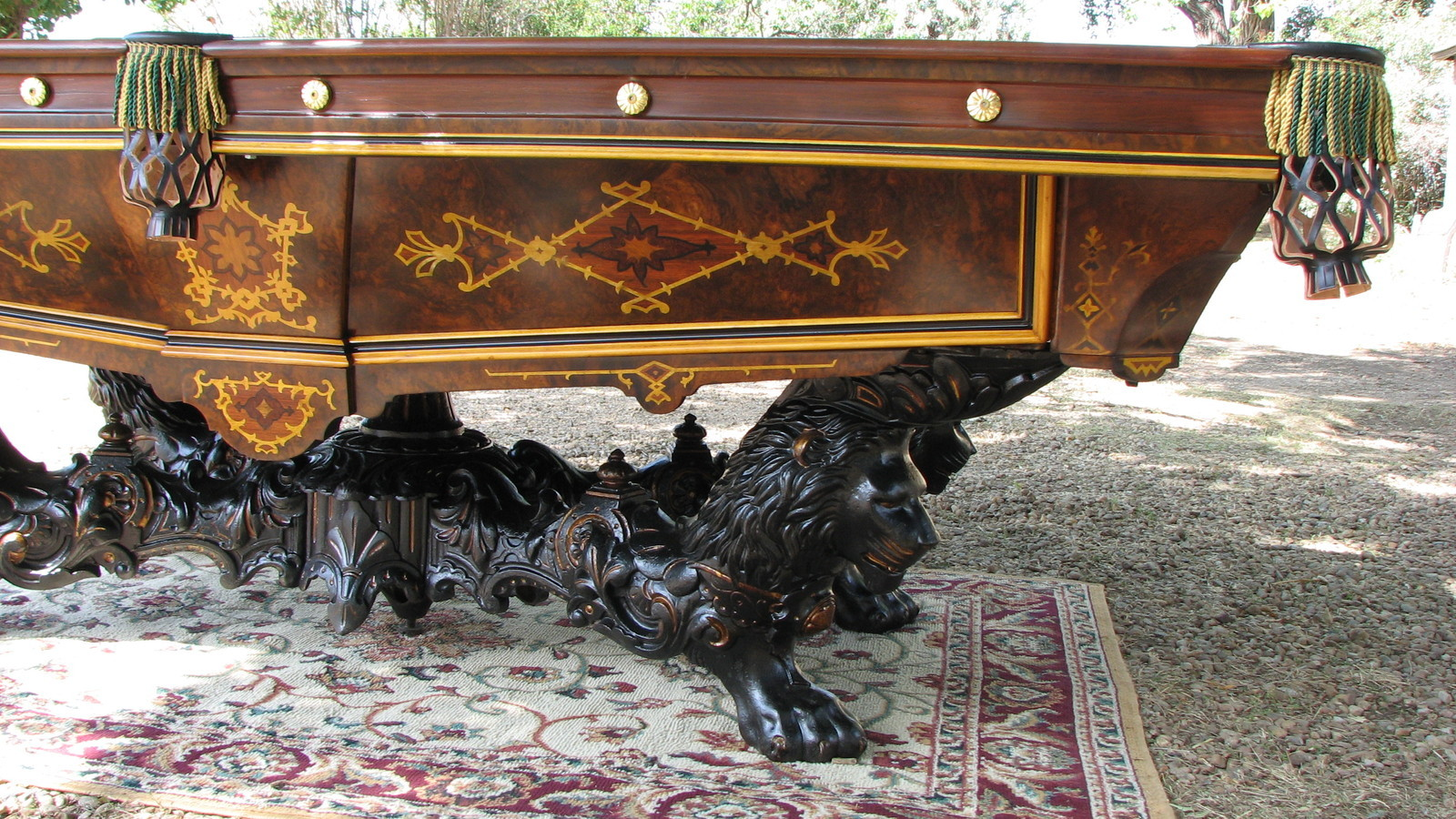Antique brunswick victorian pool table antiques of for Antiques and collectibles for sale