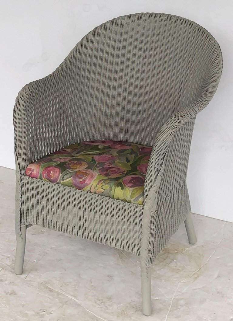 English Wicker Garden Chair by Lloyd Loom  The Antique Swan