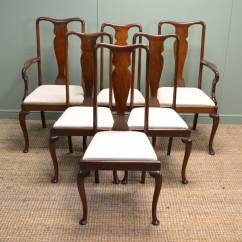 Set Of Chairs Ashley Furniture Chair And Ottoman Fine Quality Six Antique Mahogany Edwardian