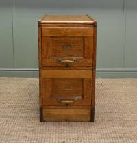 Unusual Edwardian Oak Antique Filing Cabinet