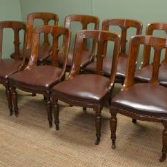 Unusual Chair Company Chichester Bean Bag Lounge Chairs Set Of Eight Solid Oak Victorian Spoon Back