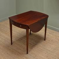 Fine Regency Small Mahogany Drop Leaf Dining Table ...