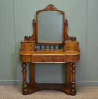 Stunning Satin Walnut Victorian Antique Dressing Table ...