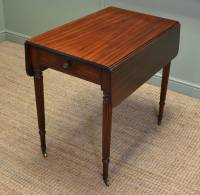 Fine Regency Gillows Small Drop Leaf Mahogany Dining Table ...
