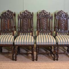 Antique Oak Dining Chairs Rattan Hanging Chair Beautiful Set Of Eight Quality Victorian Carved High