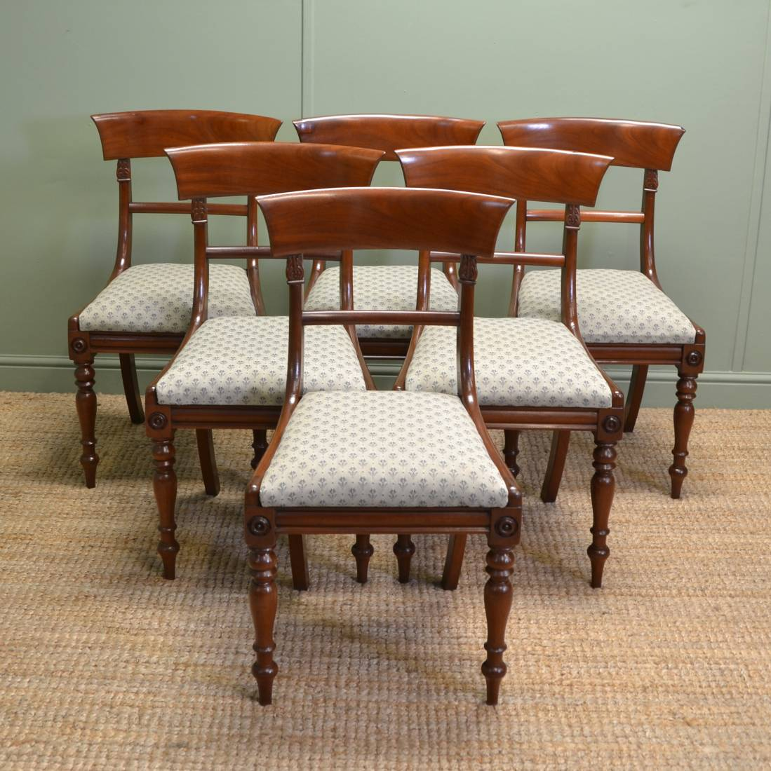 Dining Chairs Set Of 6 Fine Set Of 6 Regency Mahogany Antique Dining Chairs