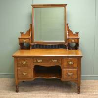 Quality Solid Oak Victorian Antique Dressing Table ...