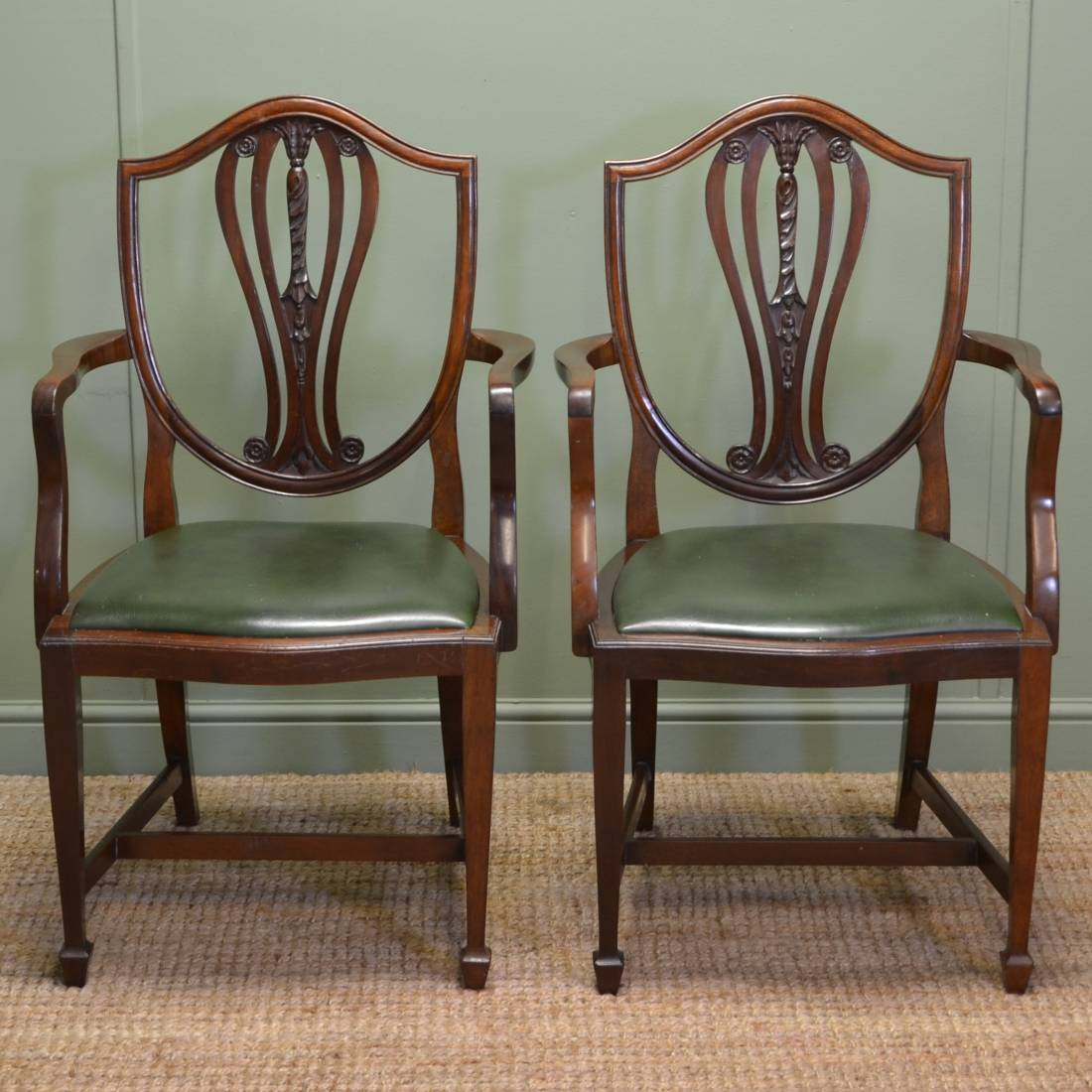 chair design antique soccer and ottoman pair of edwardian hepplewhite carver side