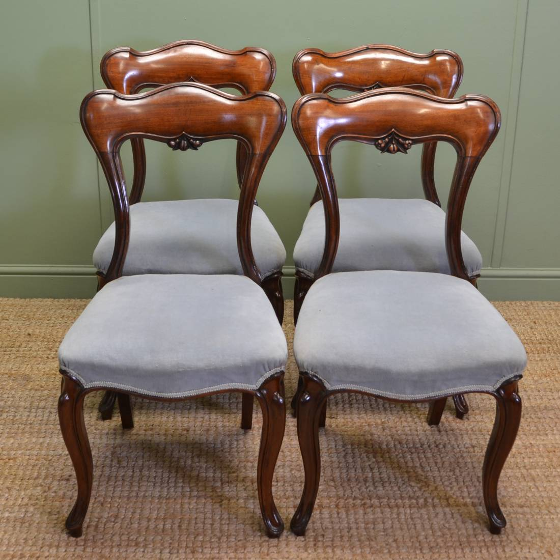 Elegant Chairs Set Of Four Super Quality Elegant Victorian Mahogany