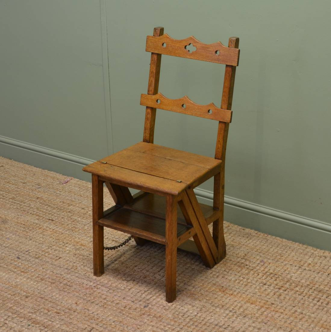 first step high chair futon chairs for sale unusual victorian arts and crafts metamorphic library