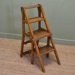 First Step High Chair Stool Ironing Board Unusual Victorian Arts And Crafts Metamorphic Library