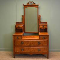 Quality Burr Walnut Victorian Antique Dressing Table