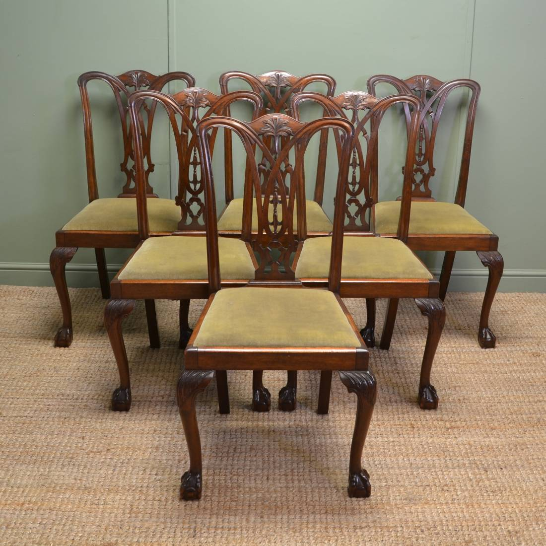 set of chairs herman miller aeron chair repair manual six chippendale design antique dining