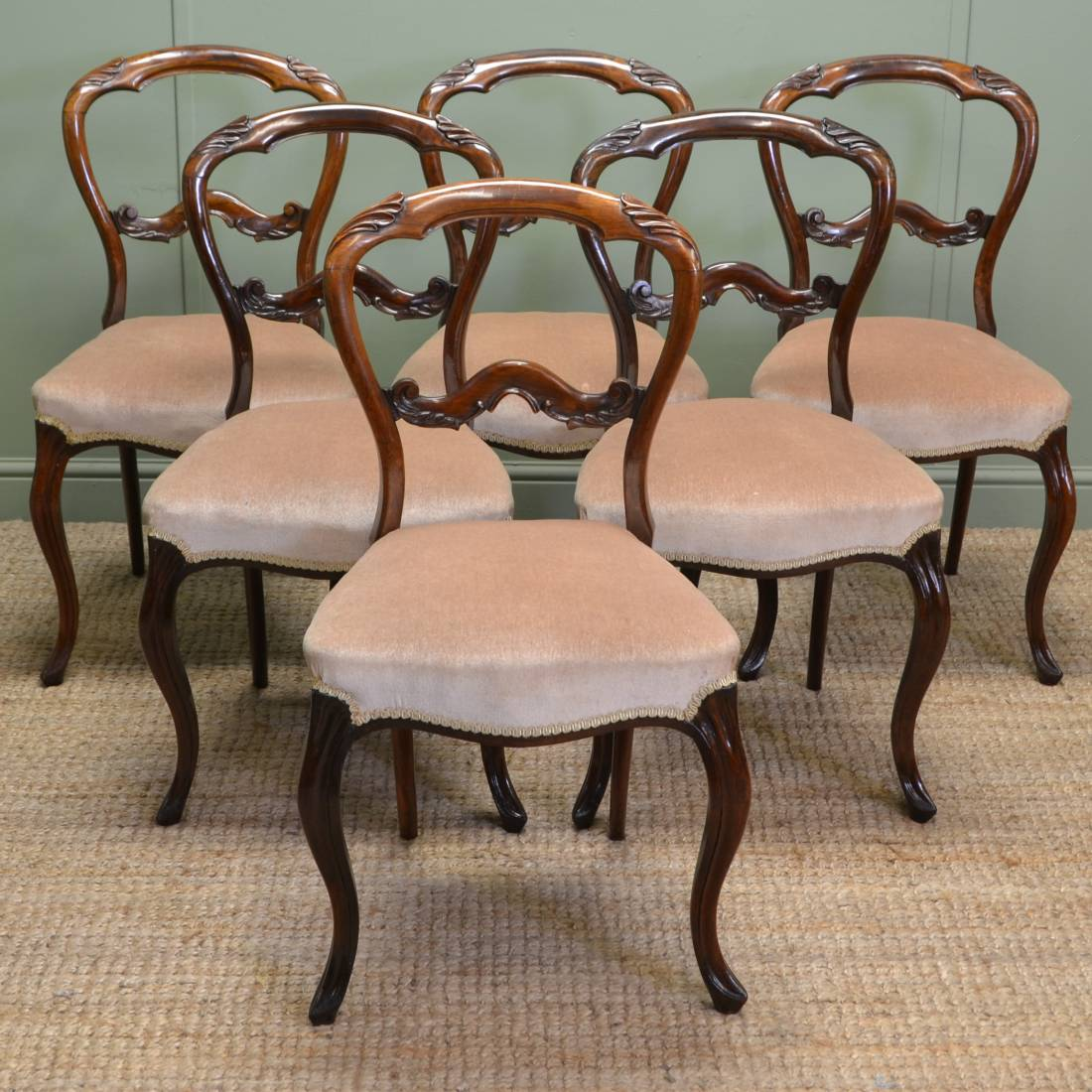 victorian rosewood chairs chair and half spectacular set of six solid antique