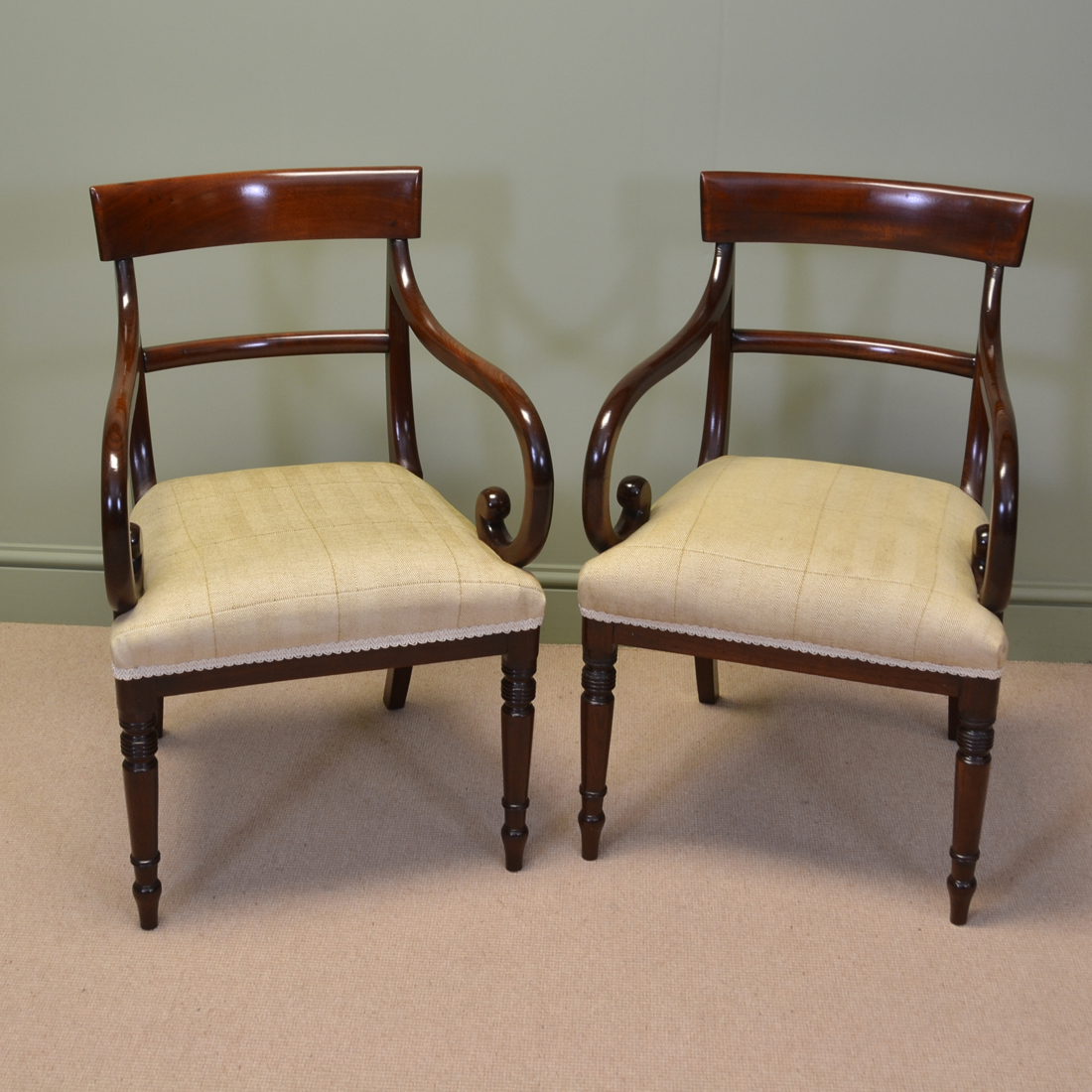 Elegant Chairs Elegant Pair Of Regency Mahogany Antique Desk Side