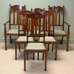 Dining Chairs For Sale Chair Design Course Spectacular Quality Set Of Six Walnut Arts And Crafts