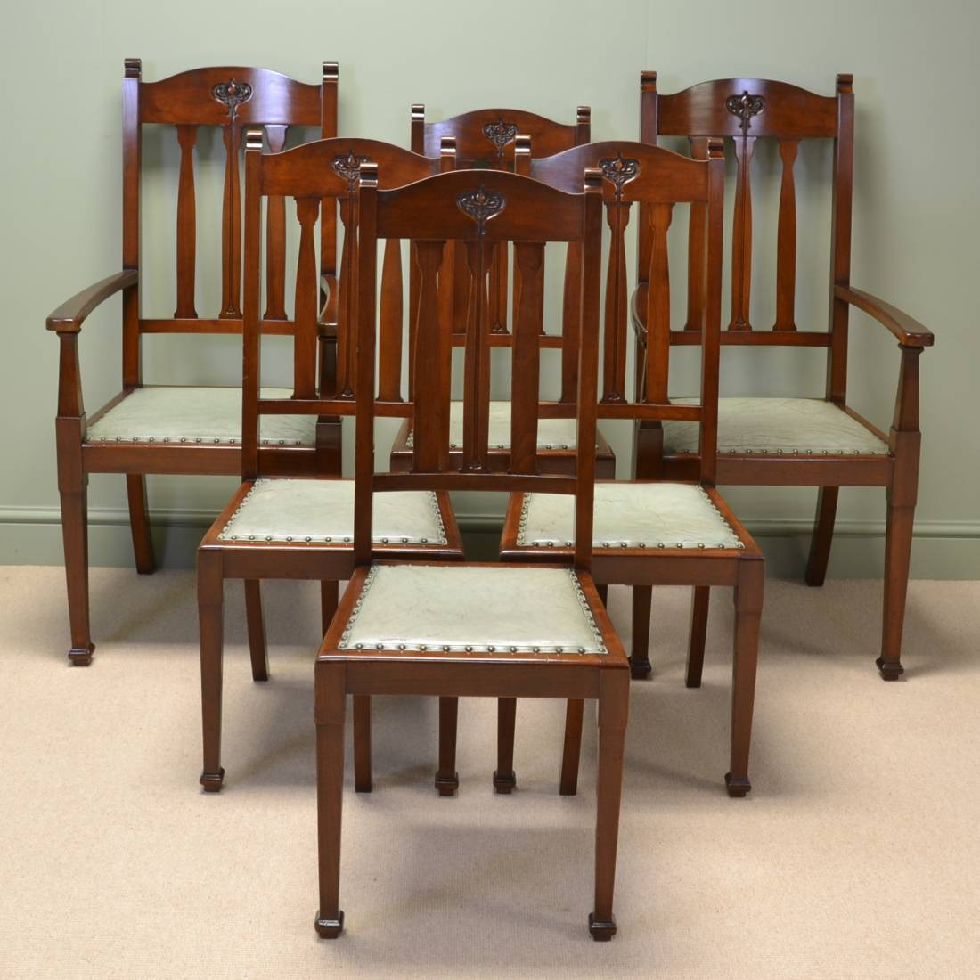 arts and crafts chairs rowe furniture keller chair spectacular quality set of six walnut