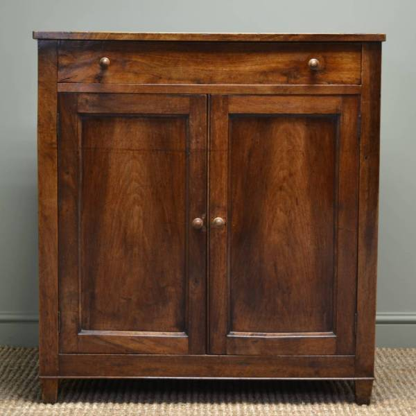 French Country Cherry Wood Antique Cupboard - Antiques World