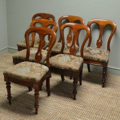 Vintage Dining Room Chairs Swivel Beach Chair Set Of Six Victorian Mahogany Antique