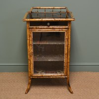 Unusual Decorative Victorian Antique Bamboo Cabinet ...