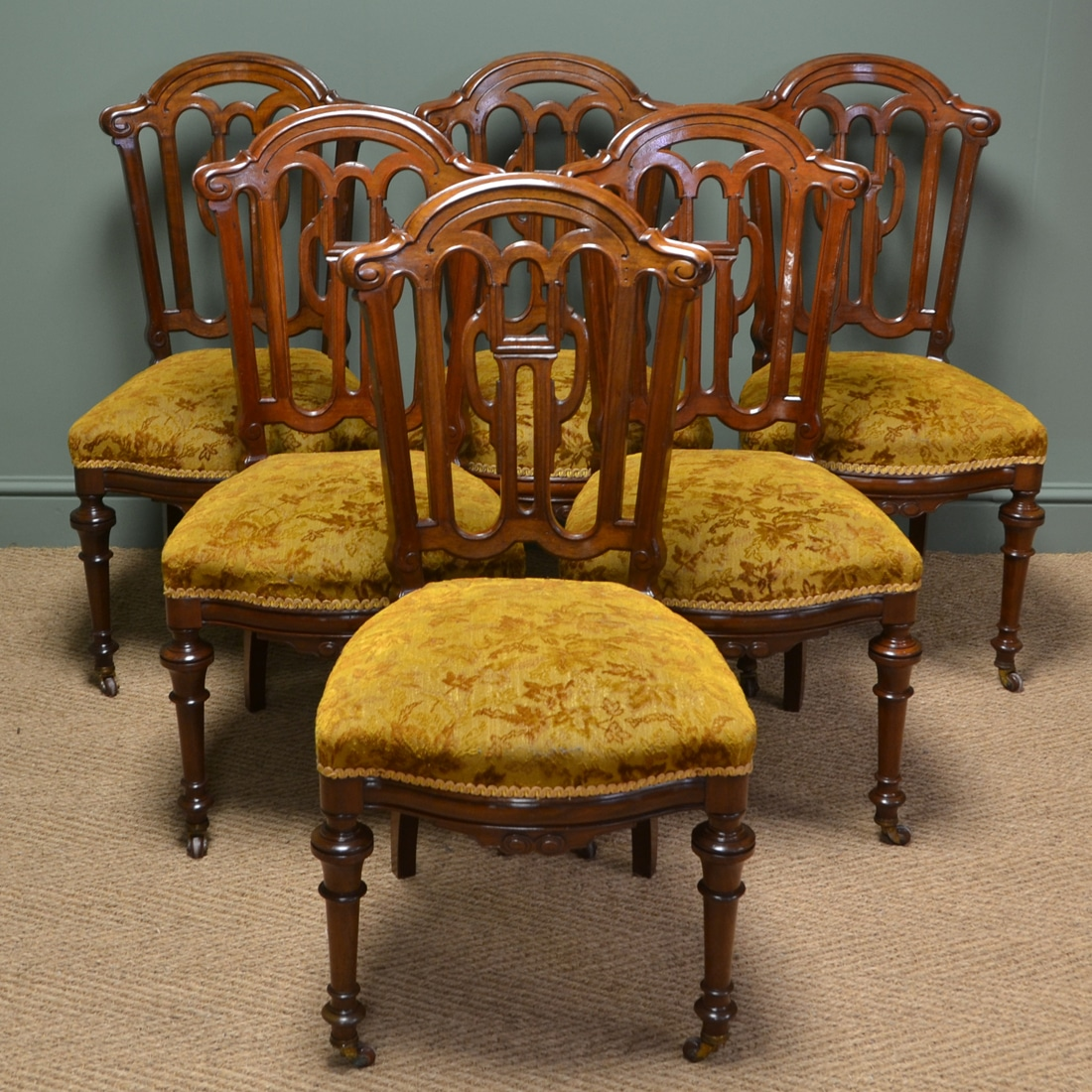 Vintage Chairs Beautiful Set Of Six Victorian Mahogany Antique Dining