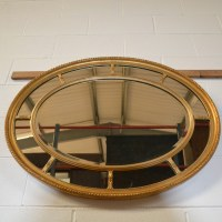 Decorative Victorian Antique Gilt Oval Mirror - Antiques World