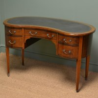 Beautiful Inlaid Victorian Mahogany Antique Kidney Shaped ...