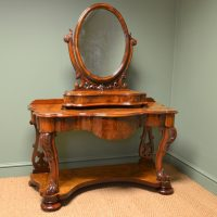 Spectacular Golden Walnut Victorian Antique Dressing Table ...