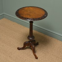 Superb Quality Victorian Walnut Antique Occasional / Lamp ...