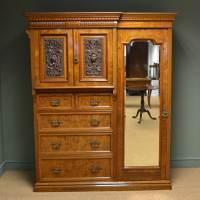 Magnificent Burr Pollard Oak Arts & Crafts Antique ...