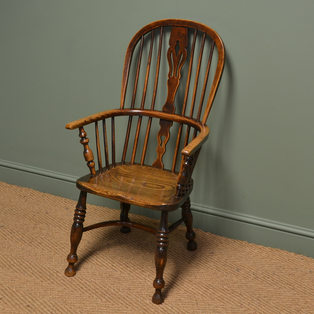 Oak Windsor Chairs Country House Georgian Oak And Elm Antique Windsor Chair