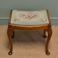 Antique Walnut Dressing Table Stool