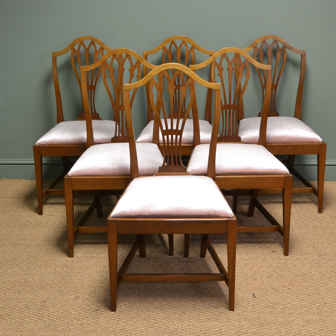 Elegant Chairs Elegant Mellow Mahogany Edwardian Hepplewhite Design