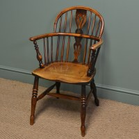 Spectacular Yew And Elm Georgian Antique Windsor Chair ...