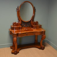 High Quality Victorian Figured Mahogany Antique Dressing