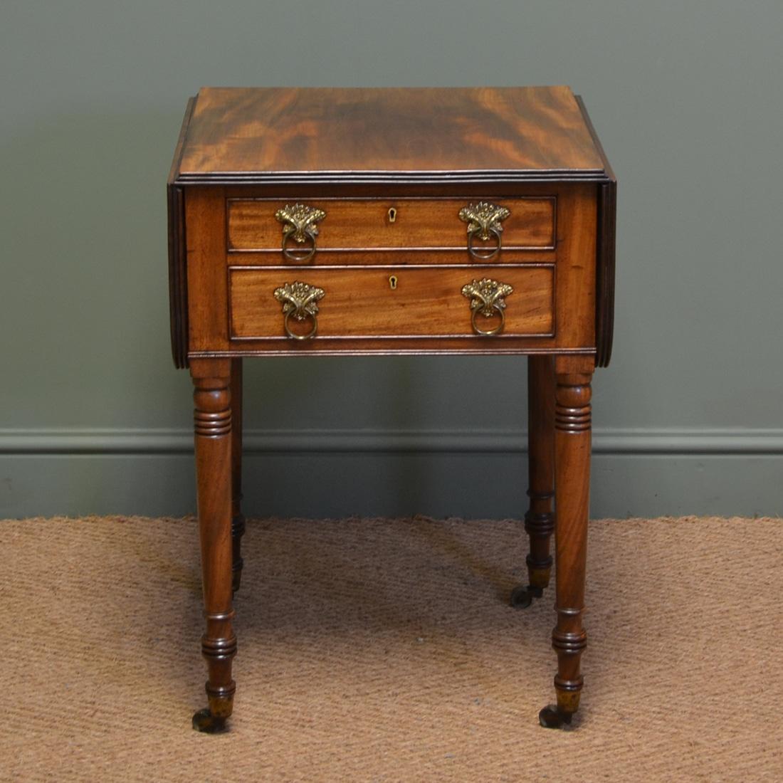 regency mahogany sofa table como decir cama en ingles beautiful small antique