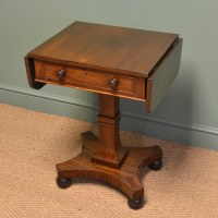 Small Victorian Antique Mahogany Side / Sofa Table ...