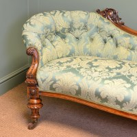 High Quality Large Victorian Walnut Antique Settee / Sofa ...