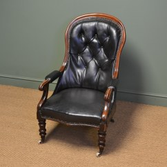 Antique Leather Chair Repair Office Chairs Near Me Country House Victorian And Mahogany Button Back