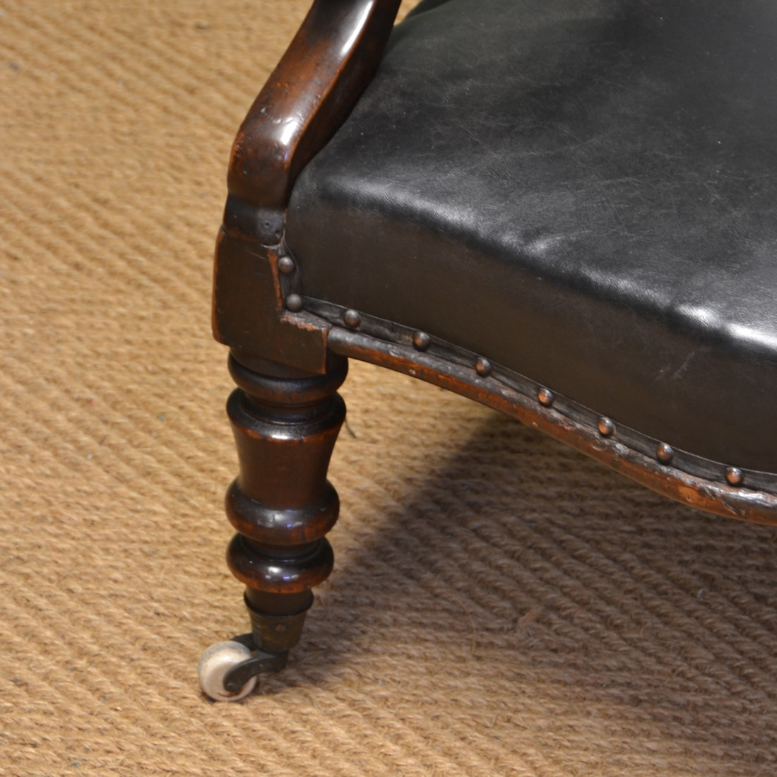 antique leather chair repair with shade canopy country house victorian and mahogany button back