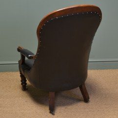 Antique Leather Chair Repair Two Person Table And Chairs Country House Victorian Mahogany Button Back