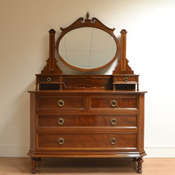 Spectacular Victorian Mahogany Antique Dressing Table