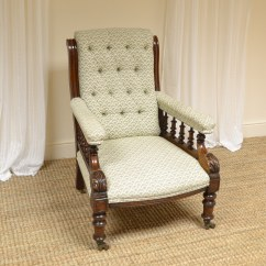 Unusual Armchair Slipcovered Swivel Chair Victorian Antique Library Antiques World