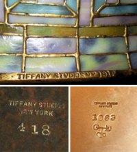 Genuine Tiffany Lamps   Authentic & Genuine Tiffany Lamp Marks