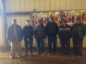 Some of the winners in their Steiner Tractor hats.