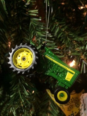 tractor christmas tree ornament. rachel gingell